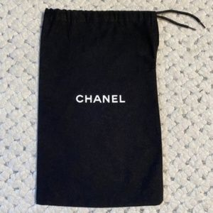 CHANEL Black White Logo dust BAG Espadrille Shoes